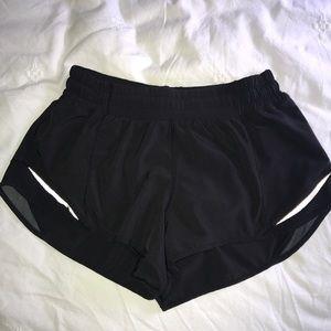 Lululemon low rise running shorts. Size 6